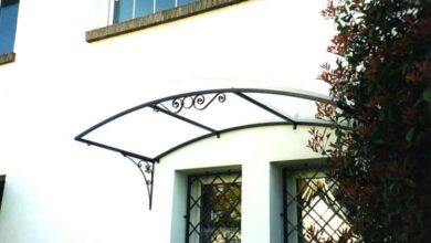 Photo of Wrought iron canopies